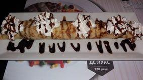Bruklin-Mittagessenstangenpfannkuchen creem nutela Lizenzfreies Stockfoto