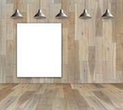 Brukowa drewniana podłoga na lasowych tło ilustracji