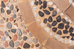 Brukowa wzór, mozaiki podłoga, szczegół typowa ulica stary Europejski miasteczko zdjęcie royalty free