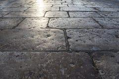 Brukowanie kamienna tekstura Zdjęcie Royalty Free