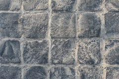 Brukowanie kamienna tekstura Abstrakt konstruujący tło nowożytny uliczny bruk cegiełek wzór obraz royalty free