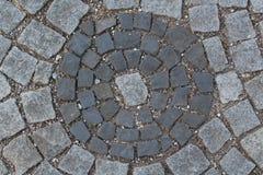 Brukowanie kamienna tekstura Abstrakt konstruujący Obraz Royalty Free