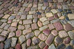 Brukowanie kamienna tekstura konstruujący abstrakcjonistyczny tło Zdjęcia Royalty Free