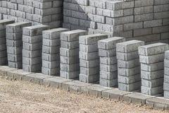 Brukowe cegiełki, kamieni bloki Fotografia Stock