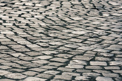 Brukowego kamienia powierzchnia Fotografia Stock