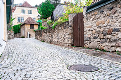 Brukowego kamienia ulica Zdjęcie Royalty Free