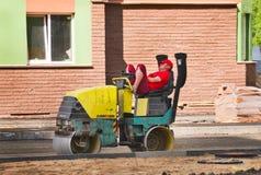 Brukowy chodniczek w mieszkaniowym okręgu miasto Zdjęcia Royalty Free