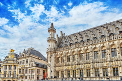 BRUKSELA BELGIA, LIPIEC, - 07, 2016: Uroczysty miejsce (Grote Markt) - Zdjęcia Royalty Free