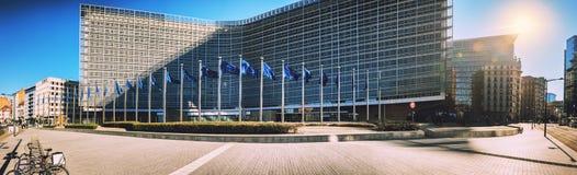 Bruksela, Belgia - 25 2018 Luty: Europejska prowizja Headqu Fotografia Stock