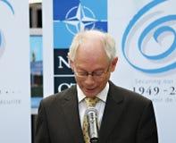 Herman Van Rompuy na otwarciu NATO-WSKA wioska Obrazy Royalty Free