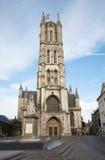 Bruksela - wierza Baaf's Świątobliwa Katedra Zdjęcia Royalty Free