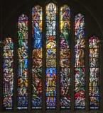 Bruksela - Windowpane od choru Bazylika Obraz Stock