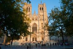 Brukselska katedra Obrazy Stock