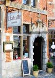 Brukselska kawiarnia Obrazy Royalty Free