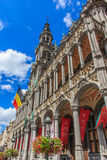Brukselski chleba dom lub dom królewiątko na kwadratowym Uroczystym miejscu, Belgia Fotografia Royalty Free