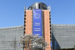 Brukselski historyczny miasto i Europejski parlamentarny miasto fotografia stock