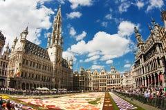 Brukselski kwiatu dywan 2016 Zdjęcia Royalty Free