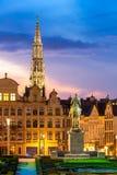 Brukselski pejzaż miejski Belgia Obrazy Royalty Free