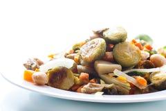 Brukselskie flance piec z warzywami i fasolami zdjęcia royalty free