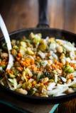 Brukselskie flance piec z warzywami i fasolami obraz royalty free