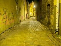 Brukującego kamienia ulica zdjęcia stock