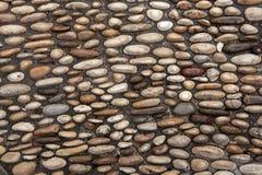 Brukujący bruk robić rzeka zaokrągleni otoczaki Tła textu Fotografia Stock
