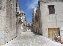 brukująca kamienna ulica Zdjęcie Stock