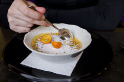 brulee caramelised övre traditionell vanilj för kräm- socker för krämefterrätt franskt Royaltyfria Foton