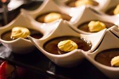 Brulee chocoladeroom Royalty-vrije Stock Afbeeldingen