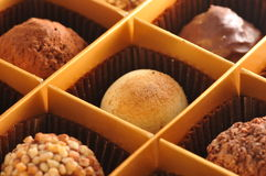 Brulee choklad för Truffe kräm Royaltyfri Foto