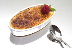 Brulee Dessert van de room Stock Fotografie