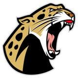 Brullende luipaard royalty-vrije illustratie