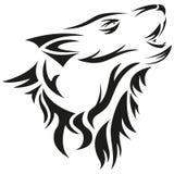 Brullende wolf Royalty-vrije Stock Afbeeldingen
