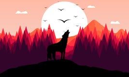 Brullende wolf royalty-vrije illustratie