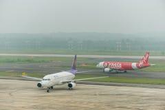 Brume à l'aéroport de krabi Photos libres de droits
