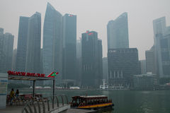 Brume à Singapour Photos stock