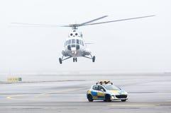 Brume de brouillard de voiture d'hélicoptère Image libre de droits