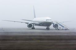 Brume de brume d'avion photo libre de droits
