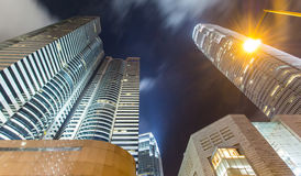 Brume de Hong Kong City Scape And en ciel Images stock