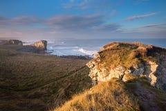 Brume de mer au-dessus des boucliers du sud Photo stock