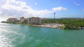 Brummen-Video-Fisher Island Miami-Strand stock video