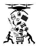 Brummen, zum des on-line-Einkaufens zu liefern Lizenzfreie Stockbilder