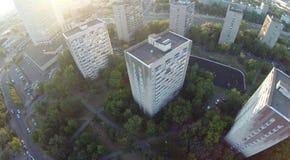 Brummenansicht-Stadthäuser Lizenzfreie Stockfotografie