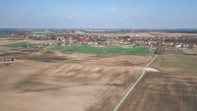 Brummenbild Vogelperspektive der nassen bebauten Landwirtschaft fängt Ne auf Lizenzfreie Stockfotografie