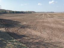 Brummenbild Vogelperspektive der nassen bebauten Landwirtschaft fängt Ne auf Lizenzfreie Stockfotos