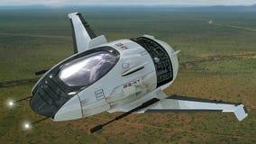 Brummendesign für futuristische Militärkriegsspiele Lizenzfreies Stockbild