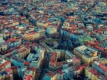Brummenfliegen-Friedensquadrat Prag Tscheche Namesti Miru lizenzfreies stockfoto