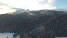 Brummenpolen-Berg-Tatry-Video Winter 4k Zakopane Tatry Polen stock video