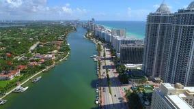 Brummenschuß Miami Beach-Inder-Nebenfluss stock video