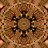 Brun abstrakt Mandala Kaleidoscope textur royaltyfria foton